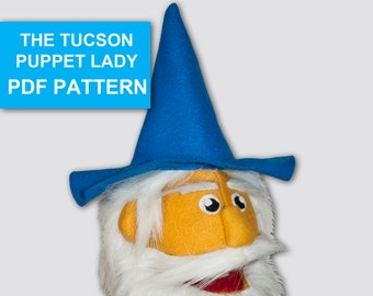 Wizard Costume Pattern for Person Puppet