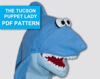 Shark Puppet Sewing Pattern