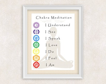 meditation art chakra art chakra colors chakra art print