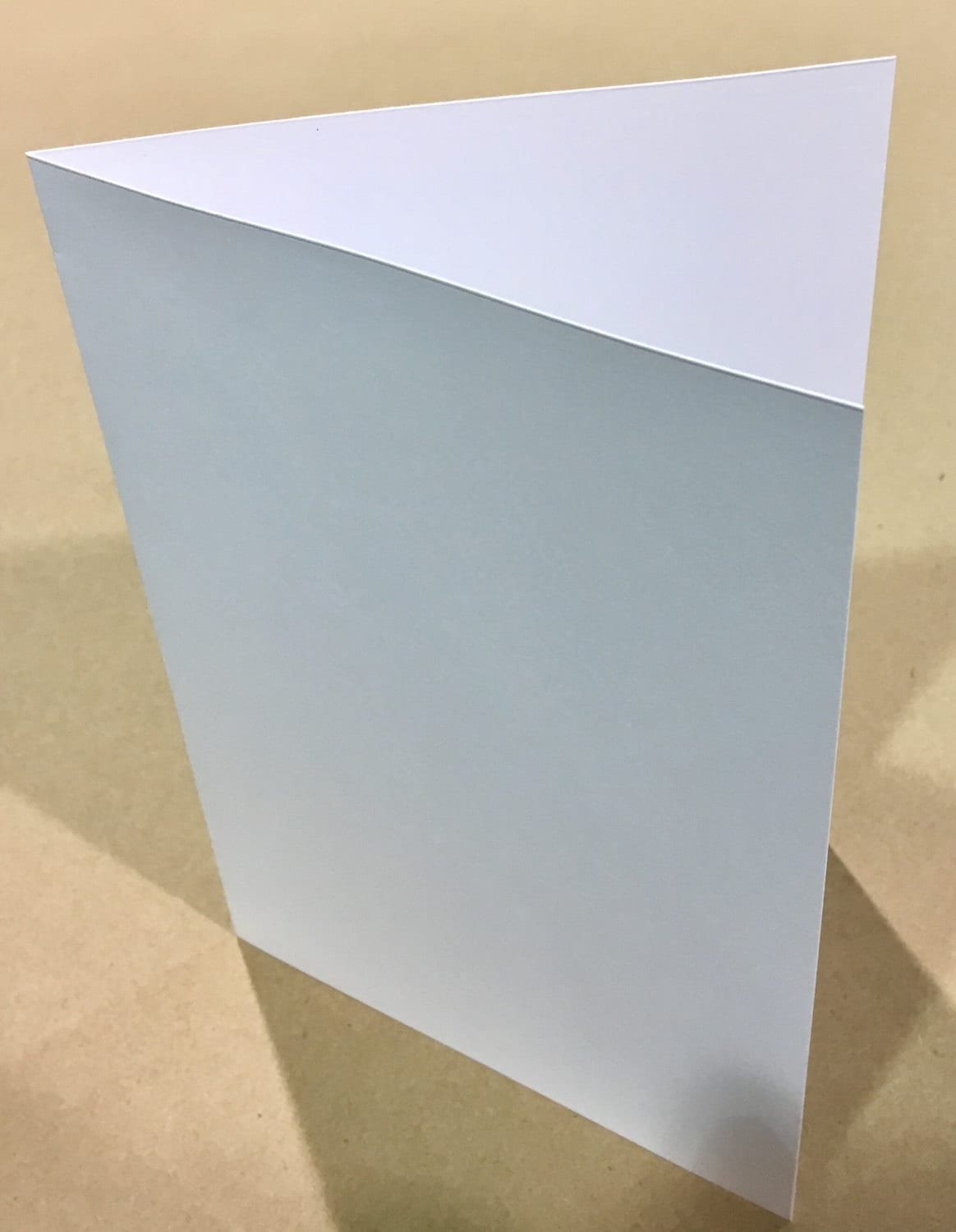Scored White 5x7 Folded Size Greeting Cards 80lb Cover Fits A7 Etsy