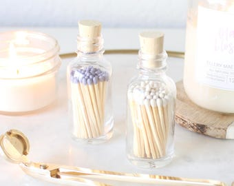 Bottled Matchsticks, coffee table decor, home decor, candle accessory