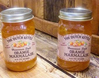 Lot of 2 Homemade Style Jam Orange Marmalade