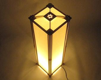 Japanese style lamp shade, tall.