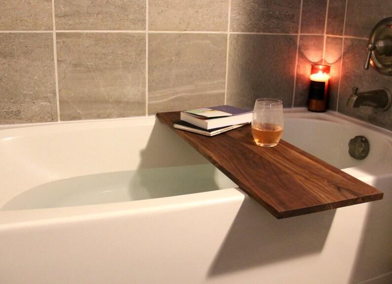 45486b1b05cdd Bathtub Tray For Standard size tubs, Wooden Bath Caddy, Bath Caddy Tray,  Valentine's Day Gift, Luxury Bath Tub Shelf, Gift For Her