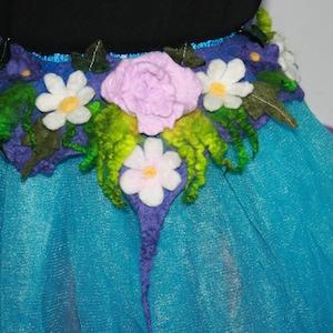 Woodland Mermaid Nymph Nuno Felted BeltSkirtScarflette OOAK Wearable Art Pixie Fairy Skirt Woodland Goddess.Leaves.green. Ready to send