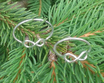 Infinity Silver Ring, dainty ring, thin midi ring, bridesmaid ring, Christmas gift, Infinity Knot Ring, his hers ring, couples silver ring