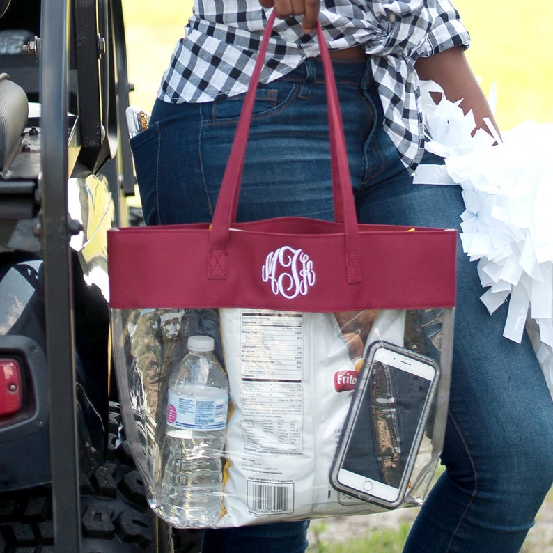 Gameday Purse,Gameday tote,Clear Stadium Approved Purse,Clear Tote,Personalized clear tote,Gift for football fan,Personalized Christmas Gift