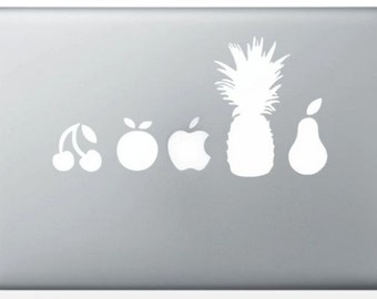 Sticker for MacBook Pro Air Mac decals Apple fruit. Pineapple Pear Apple cherry