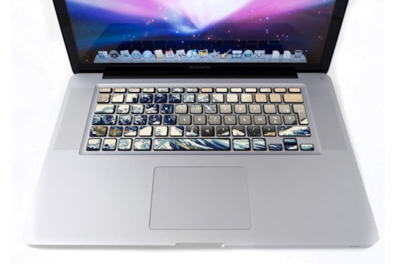 Wave keyboard for MacBook stickers image 0