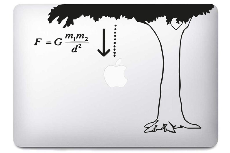 Newton's Apple Sticker for MacBook Pro Air image 0