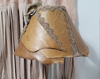 Leather 'n Lace Lamp Shade