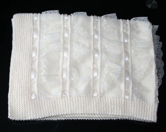 c7a0793a9096 Hand knit baby blanket