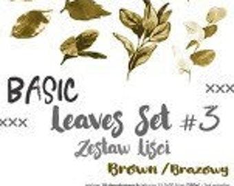 Craft O'Clock Paper - Basic Leaves Set #3 - Brown