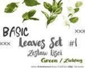 Craft O'Clock Paper - Basic Leaves Set #1 - Green