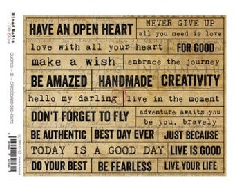 Craft O'Clock Paper - Chipboard Quotes