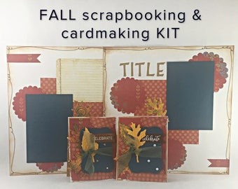 TUTORIAL - FALL - 2 cards & 2 scrapbook layouts (kit included!)