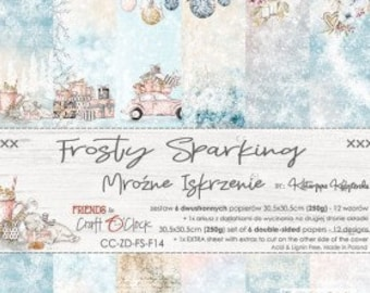 Craft O'Clock Paper - Frosty Sparking Paper Collection
