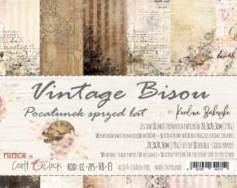 Craft O'Clock Paper - Vintage Bisou Paper Collection