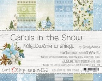 Craft O'Clock Paper - Carols in the Snow Paper Collection
