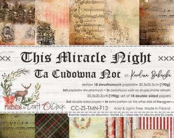 Craft O'Clock Paper - This Miracle Night Paper Collection