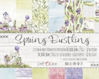 Craft O'Clock Paper - Spring Bustling Paper Collection