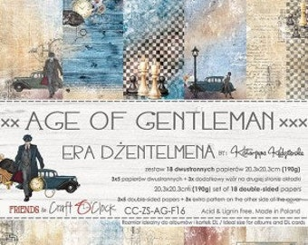 Craft O'Clock Paper - Age of Gentlemen Paper Collection