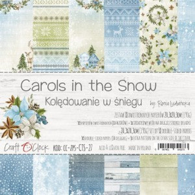 Craft O'Clock Paper  Carols in the Snow Paper Collection image 0