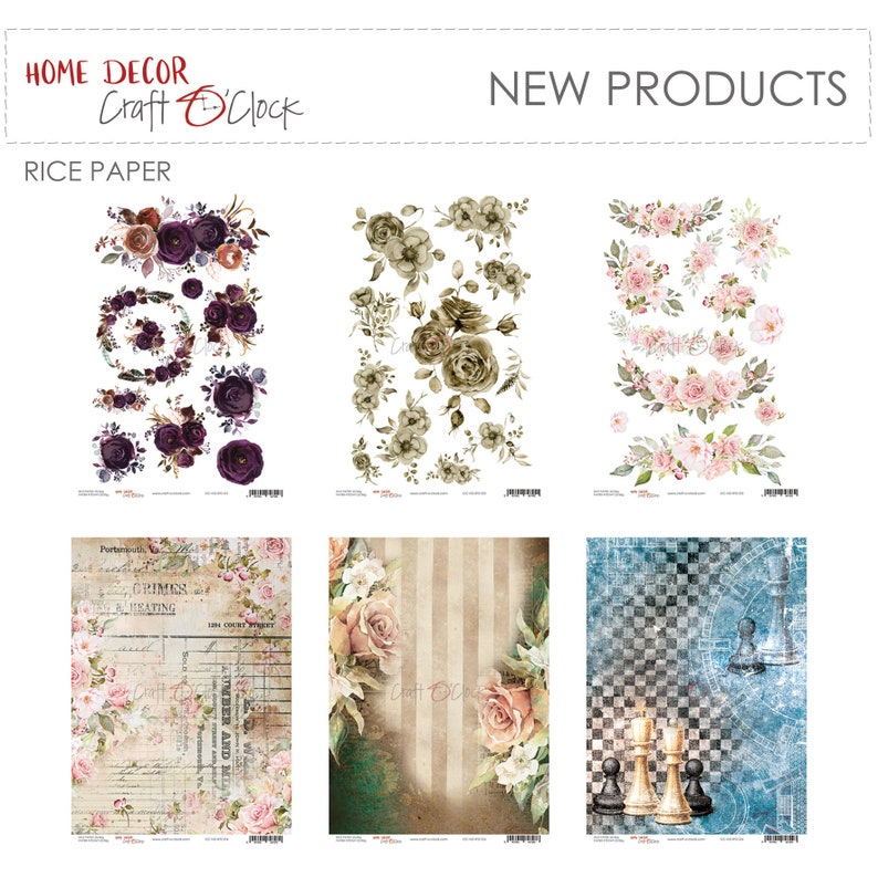 Craft O'Clock Paper  Home Decor Rice Paper Collections image 0