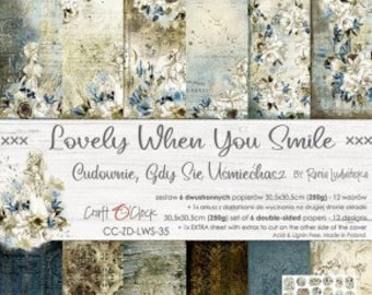 Craft O'Clock Paper - Lovely When You Smile Paper Collection