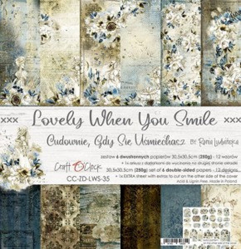Craft O'Clock Paper  Lovely When You Smile Paper image 0
