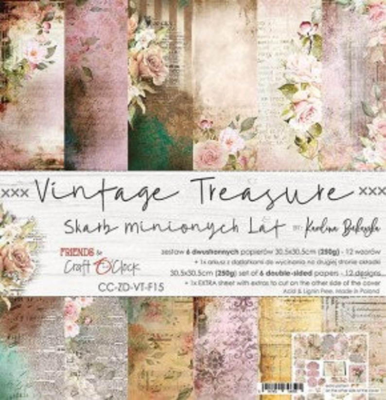 Craft O'Clock Paper  Vintage Treasure Paper Collection image 0