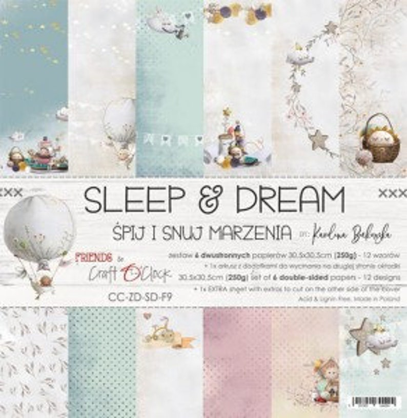 "Craft O'Clock Paper  Sleep and Dream Paper Collection 6"" x 6"" Paper Pack"
