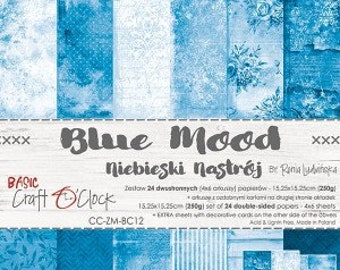 Craft O'Clock Paper - Blue Mood Paper Collection