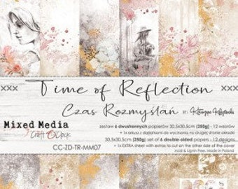 Craft O'Clock Paper - Time of Reflection Paper Collection