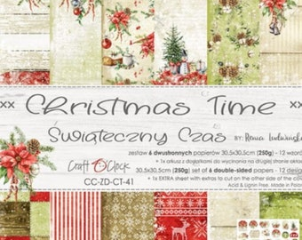 Craft O'Clock Paper - Christmastime Paper Collection