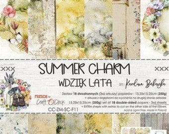 Craft O'Clock Paper - Summer Charm Paper Collection