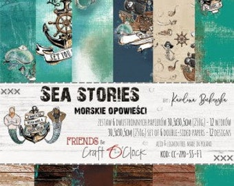 Craft O'Clock Paper - Sea Stories Paper Collection