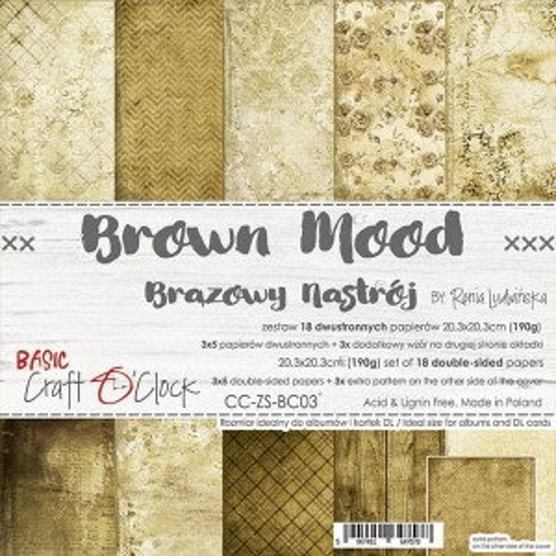 Craft O'Clock Paper  Brown Mood Paper Collection image 0
