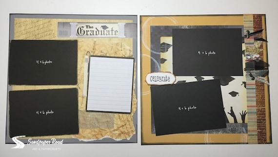 Graduation Scrapbook Album 12x12 Scrapbook Album Pre Made Etsy