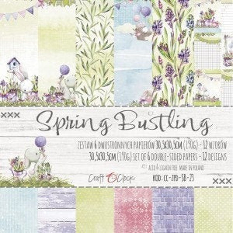 Craft O'Clock Paper  Spring Bustling Paper Collection image 0