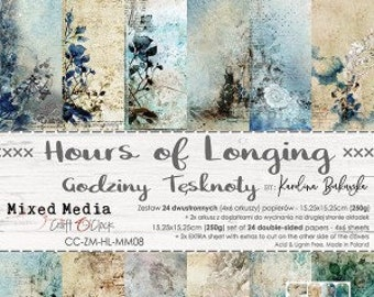 Craft O'Clock Paper - Hours of Longing Paper Collection