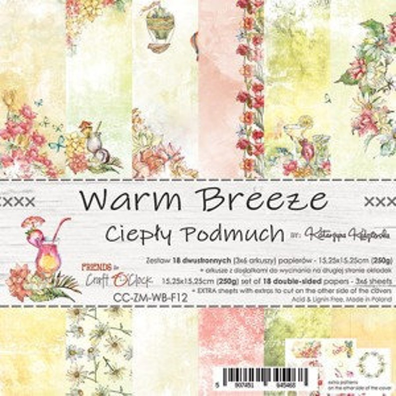 Craft O'Clock Paper  Warm Breeze Paper Collection image 0
