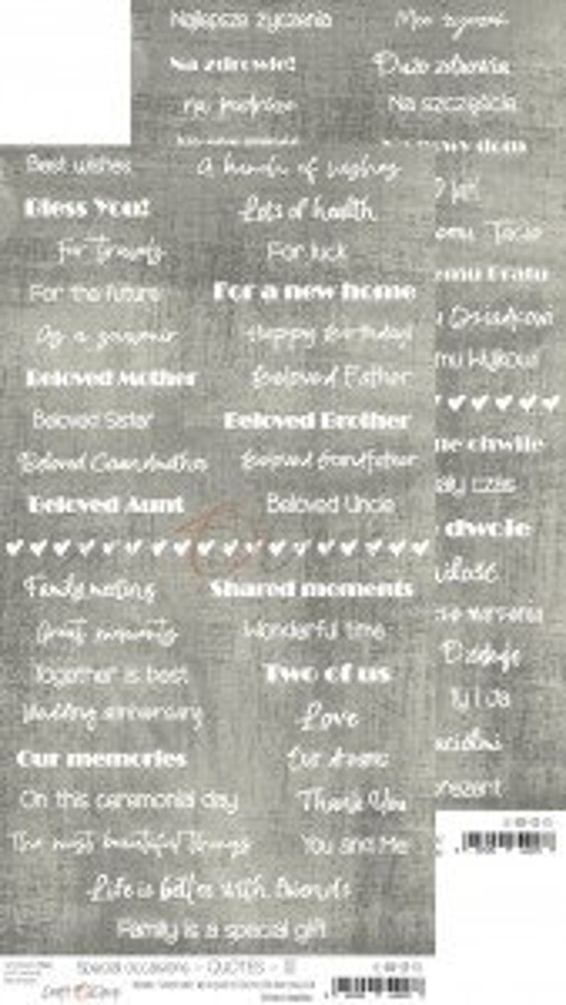 Craft O'Clock Paper  Special Occasions Quotes image 0