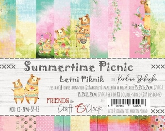 Craft O'Clock Paper - Summertime Picnic Paper Collection