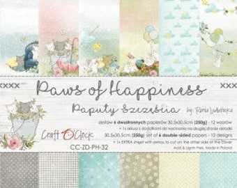 Craft O'Clock Paper - Paws of Happiness Paper Collection
