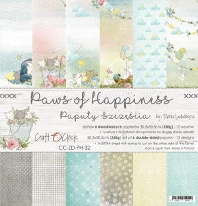 Craft O'Clock Paper  Paws of Happiness Paper Collection image 0
