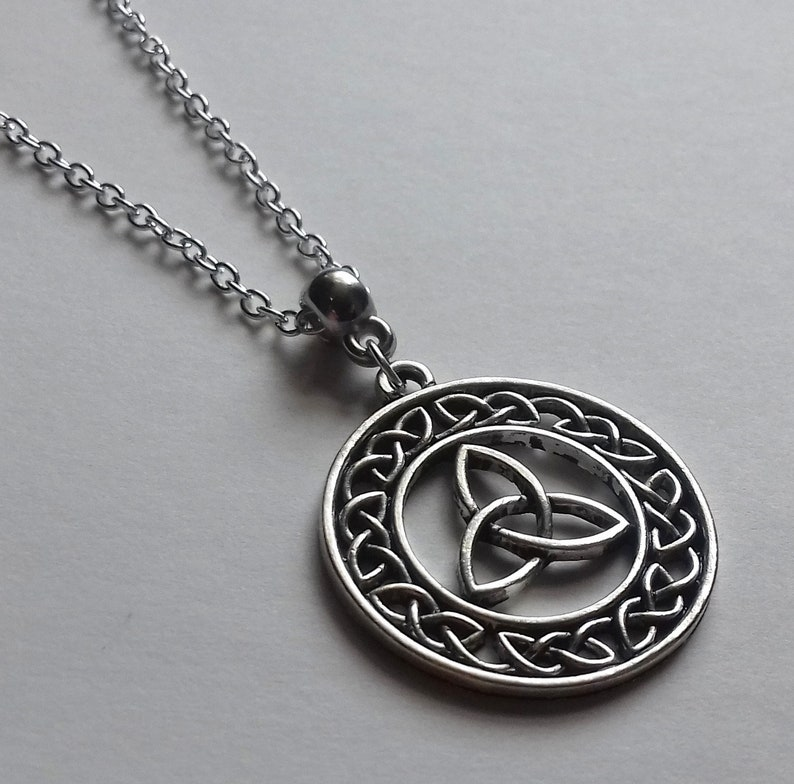 Celtic Anklet with Trinity Knot Celtic Pagan Jewelry
