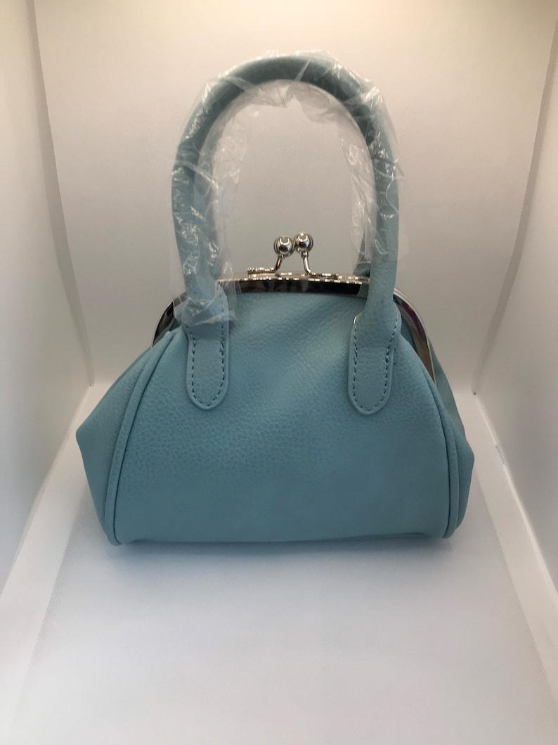 Vintage Handbags, Purses, Bags *New* Retro Purse bag 1960s Mod grab handles shoulder strap - vintage style $35.78 AT vintagedancer.com