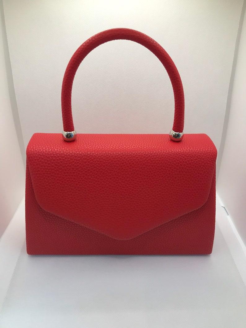 Vintage Handbags, Purses, Bags *New* Retro hand Bag 1960s Vintage style Grab handle clutch - purse - $41.51 AT vintagedancer.com