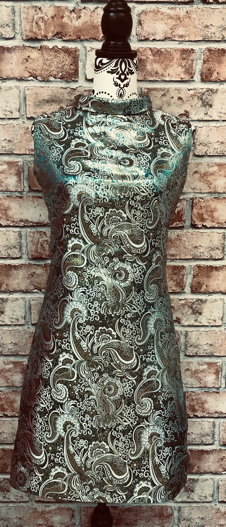 1960s Cocktail, Party, Prom, Evening Dresses Mod Dress Green Paisley 1960s vintage inspired $118.00 AT vintagedancer.com